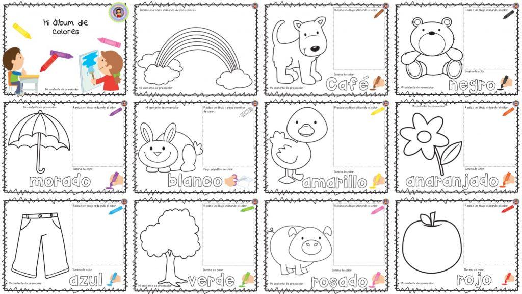 Mi álbum De Colores Para Preescolar Primer Y Segundo Grado De