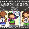 Fabulosos diseños de números del 1 al 50 coloridos