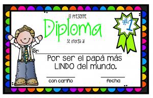 maravillosos diplomas para premiar a nuestros padres educación
