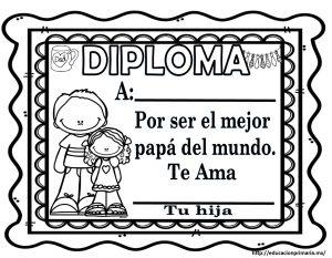 Fabulosos diplomas para el da del padre  Educacin Primaria