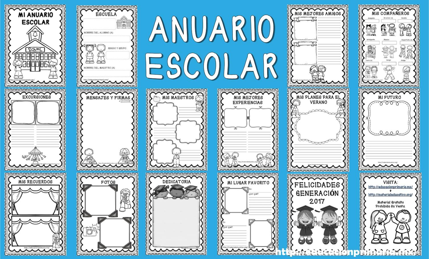 Magnífico Plantilla Del Anuario Escolar Foto - Ejemplo De Colección ...