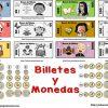 Estupendos billetes y monedas para aprender