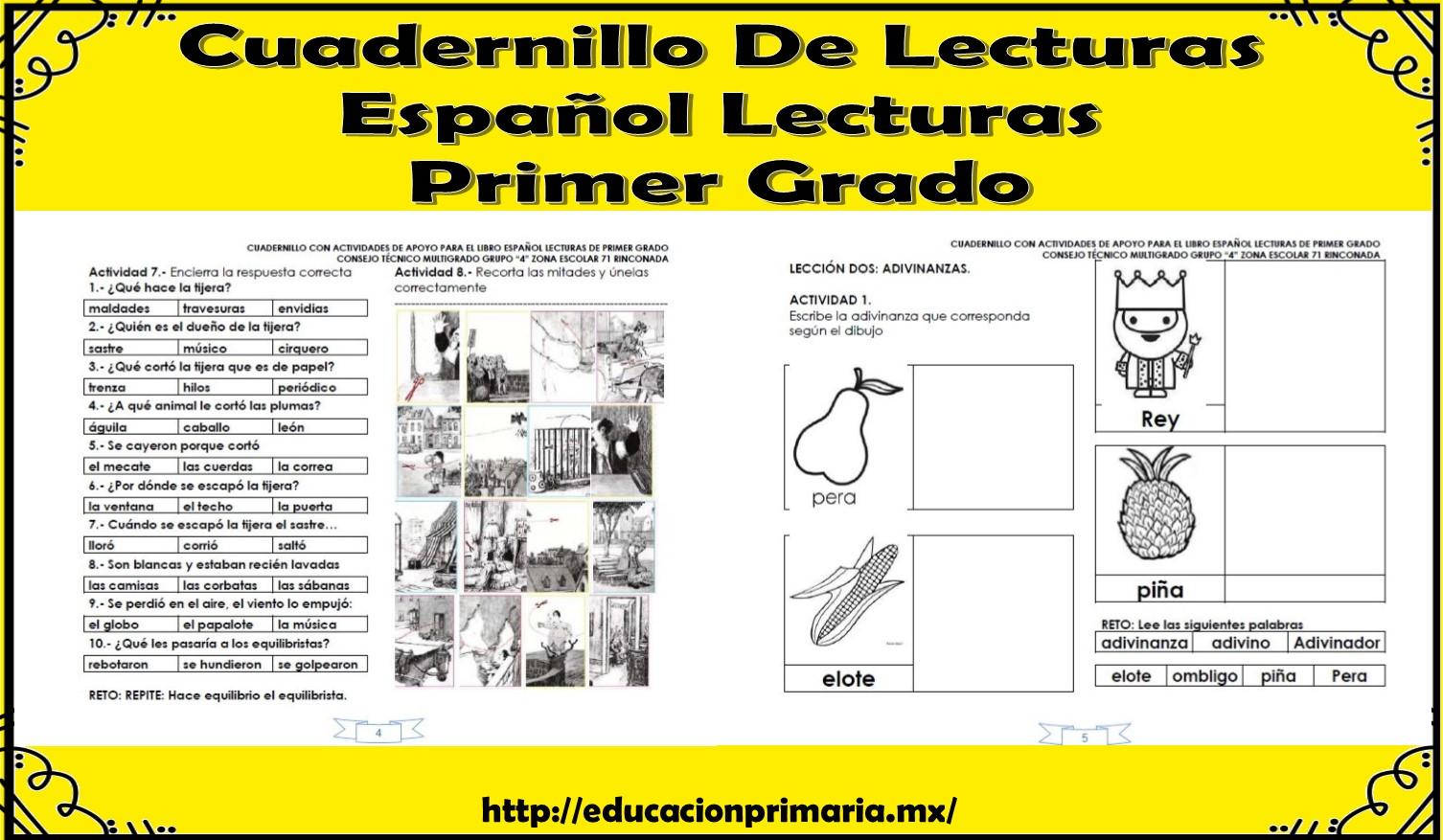 Estupendo cuadernillo de actividades de espa ol lecturas for Espanol lecturas cuarto grado 1993