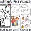 Evaluación final para preescolar nivel de dificultad fácil