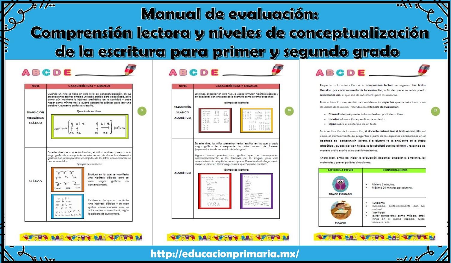Manual de evaluaci n comprensi n lectora y niveles de for Cuarto quinto y sexto mes de embarazo