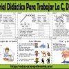 Fabuloso material didáctico para trabajar la C, D y F en primer y segundo grado de primaria