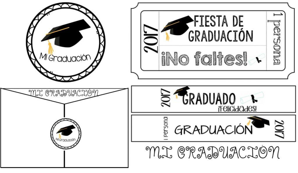Invitación Brazaletes Pulseras Y Ticket Para Graduación O Clausura