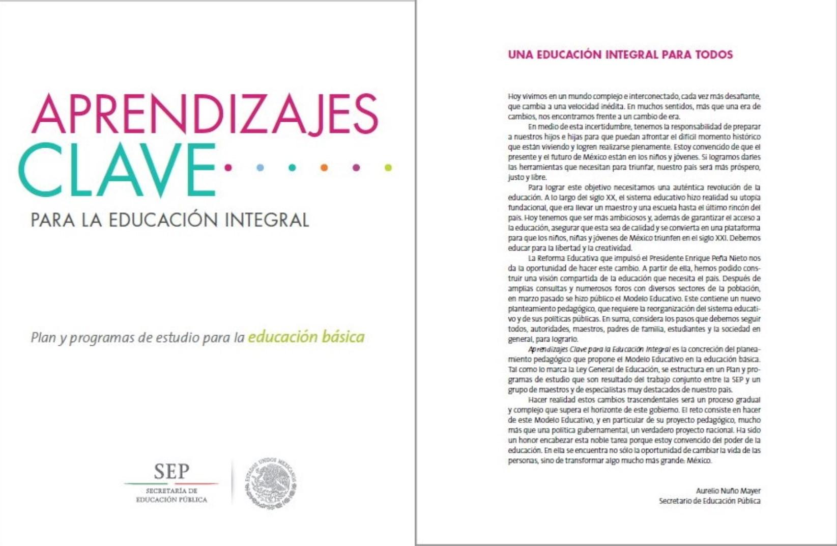 Plan y programas de estudio para la educaci n b sica for Programa curricular de educacion inicial