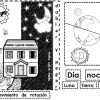 Genial material educativo para trabajar el día y la noche para preescolar, primer y segundo grado de primaria