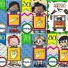 Coloridos diseños de números de 10 en 10 con señas braille