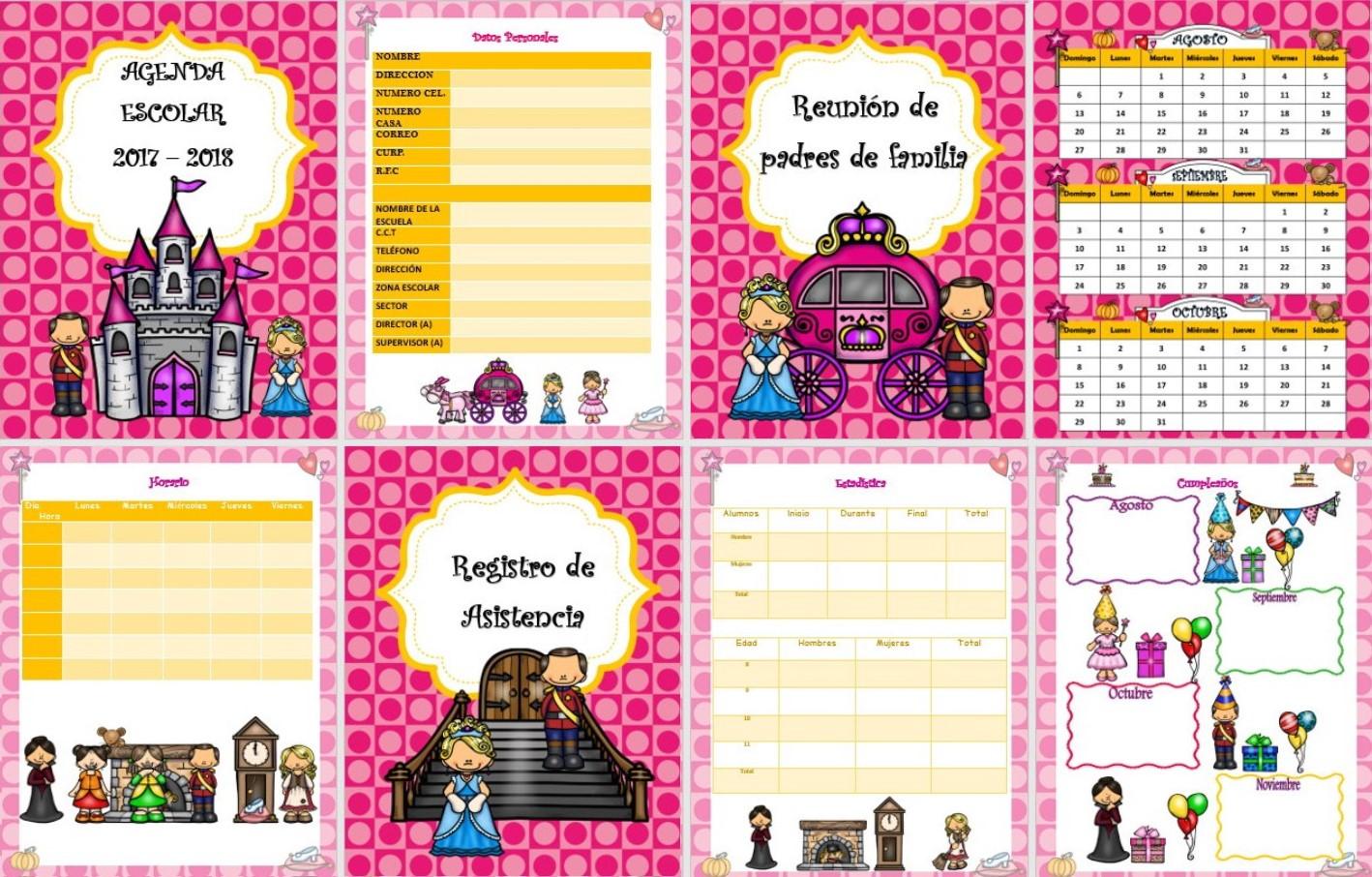 fant225stica y hermosa agenda escolar de cenicienta para el