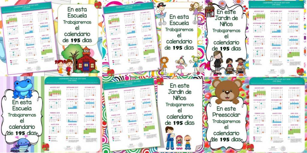 Calendario Escolar 2017 2019 195 Dias Buhos