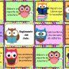 Excelente reglamento de la biblioteca del aula diseños búhos