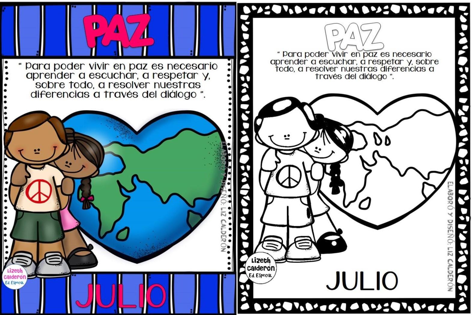 La Paz valor del mes de julio | Educación Primaria