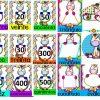 Estupendo material educativo de números, figuras geométricas y gafetes del tema de unicornios