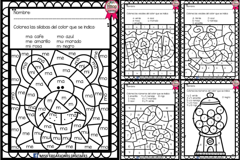 Colorea Y Descubre El Dibujo Con Sílabas, Letras Y Números