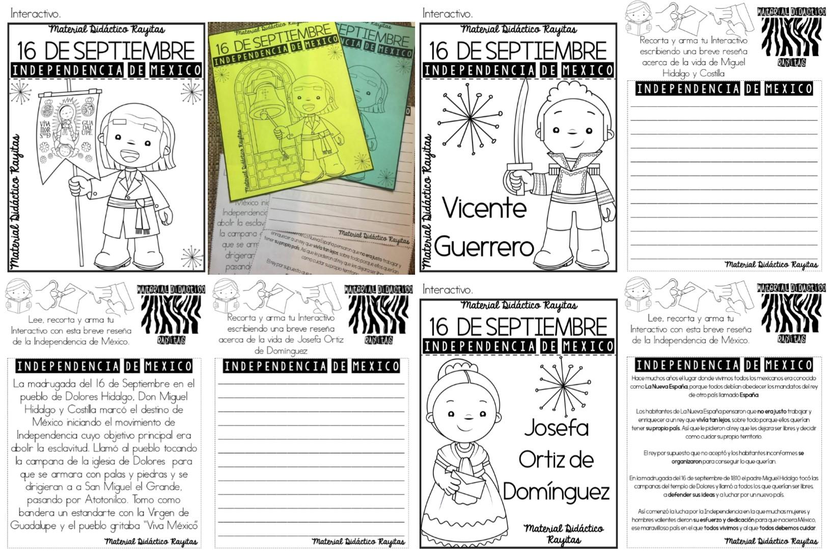 Personajes De La Independencia De México Educación Primaria