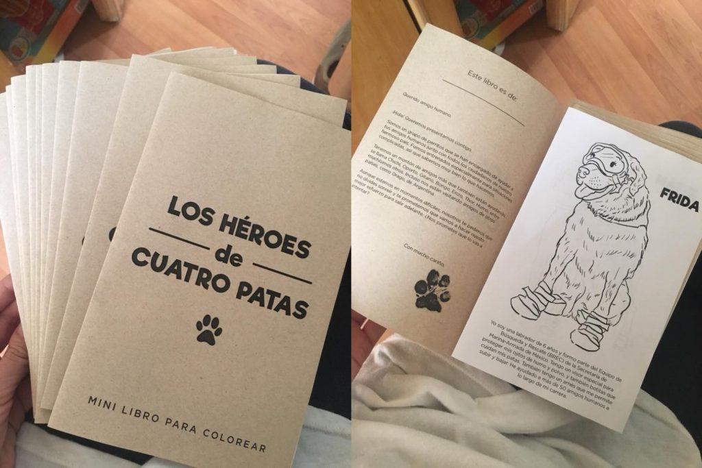 Los héroes de cuatro patas, mini libro para colorear | Educación ...