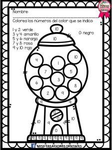 Colorea Y Descubre El Dibujo Con Sílabas Letras Y Números Para