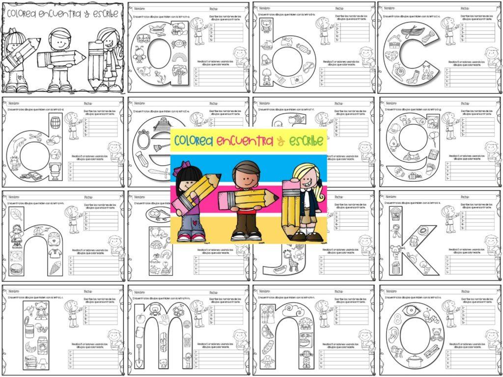 Colorea, encuentra y escribe para preescolar, primer y segundo grado ...