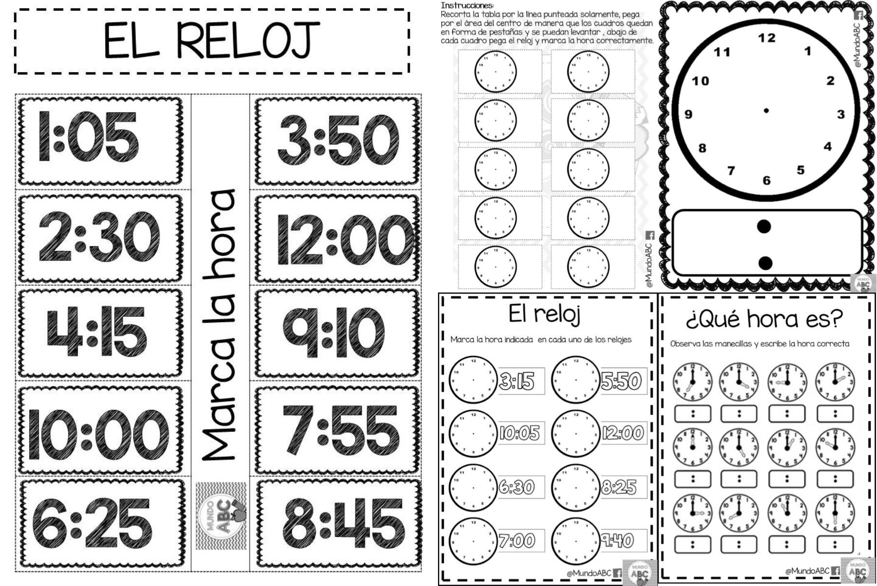 Geniales actividades para el uso del reloj y el tiempo - El tiempo getafe por horas ...