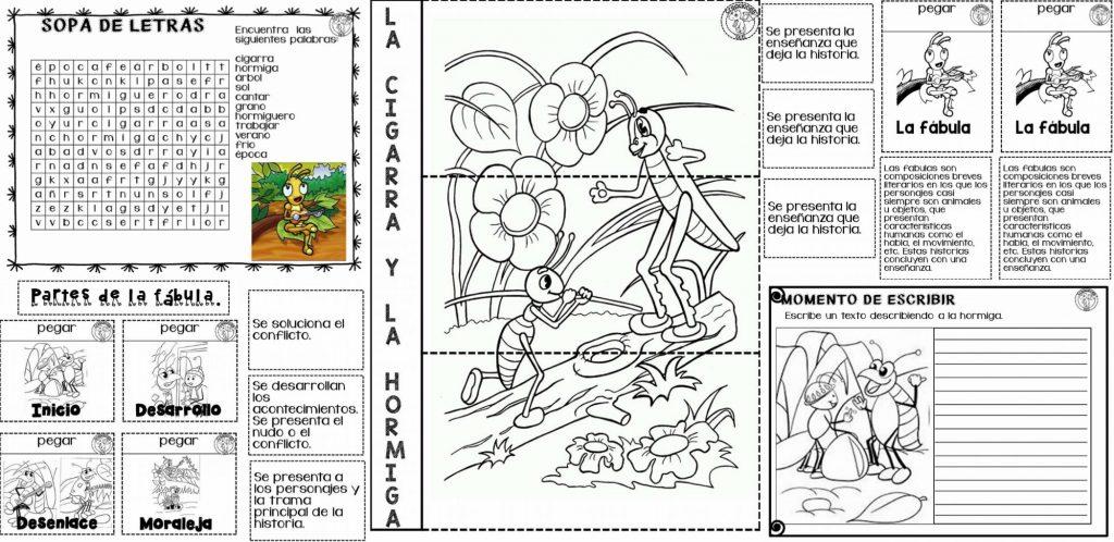 Genial Material Educativo Para Trabajar La Lección De La Fábula La Cigarra Y La Hormiga Para Segundo Grado De Primaria