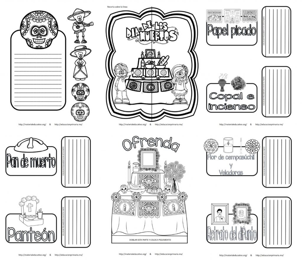 Estupenda Y Creativa Lapbook De Día De Muertos La Ofrenda Y Sus