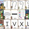 Diseños para enseñar y aprender los números egipcios, mayas y romanos