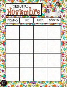 Excelente Calendario Y Lista De Pendientes Del Mes De Noviembre