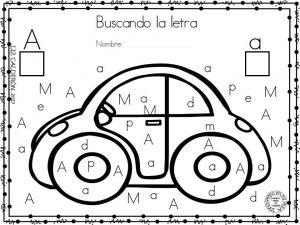 Colorea Las Vocales Del Carro Para Preescolar Y Primer Grado De