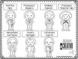Espectacular Material Interactivo De Los Personajes De La Revolución