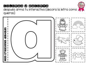 Practicando Las Vocales Colorea Y Recorta Para Preescolar Y Primer