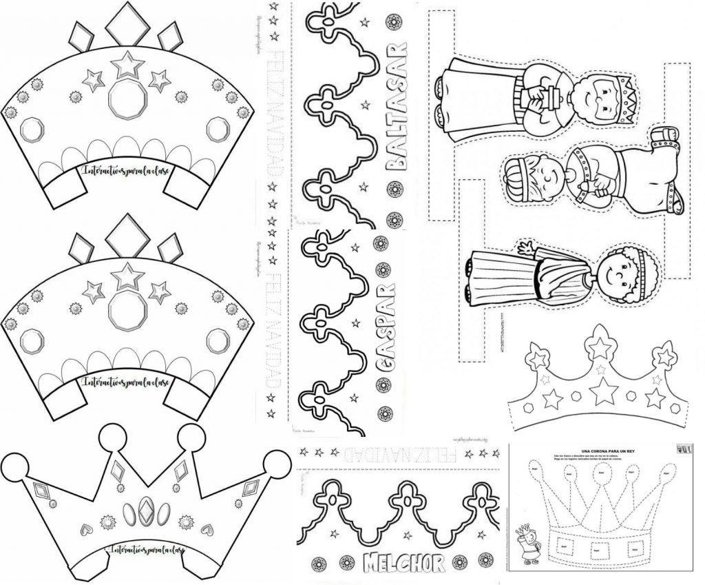 Dias De Reyes Magos Descargar maravillosas coronas como manualidad para el día de los