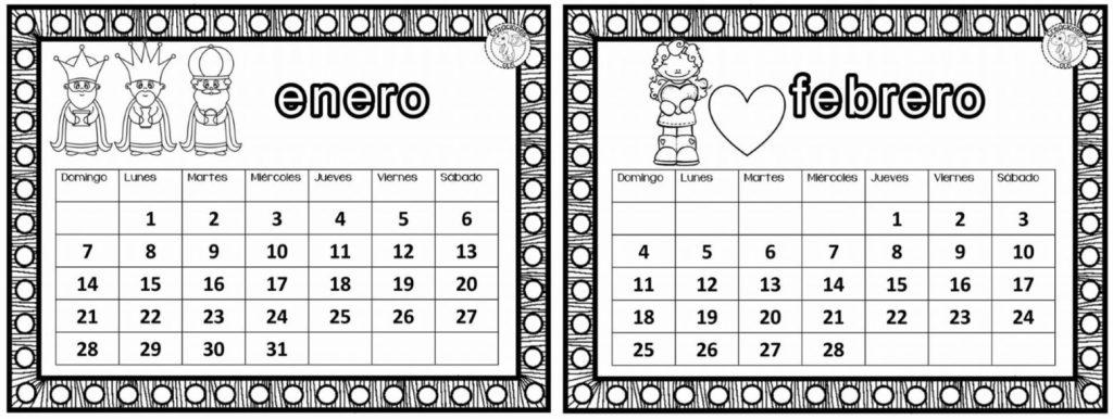 Excelente Calendario De Enero Y Febrero Para Organizar Nuestras