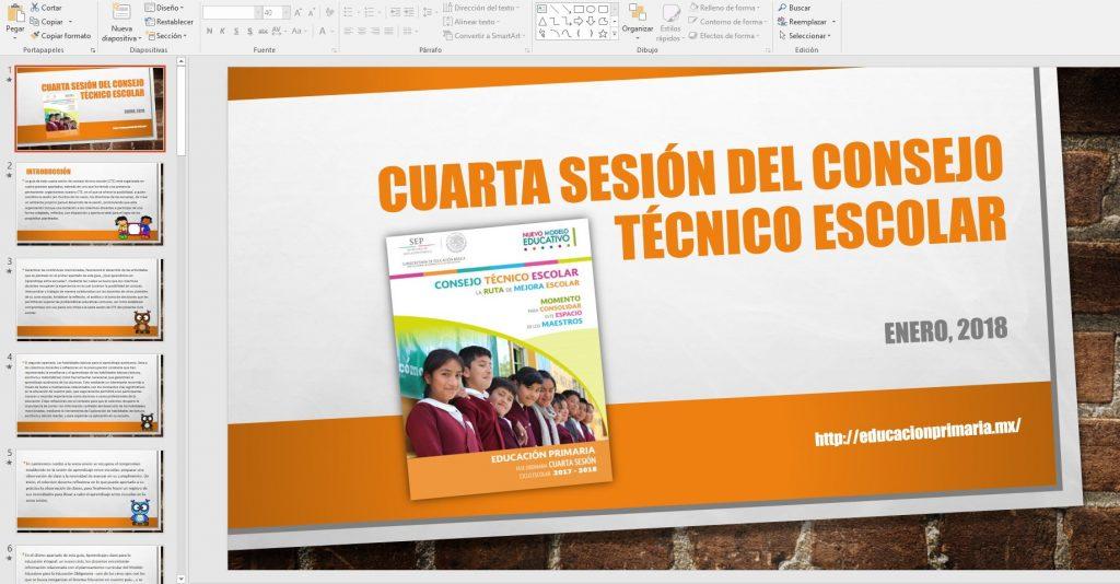 Presentación en PowerPoint de la cuarta sesión del consejo técnico ...