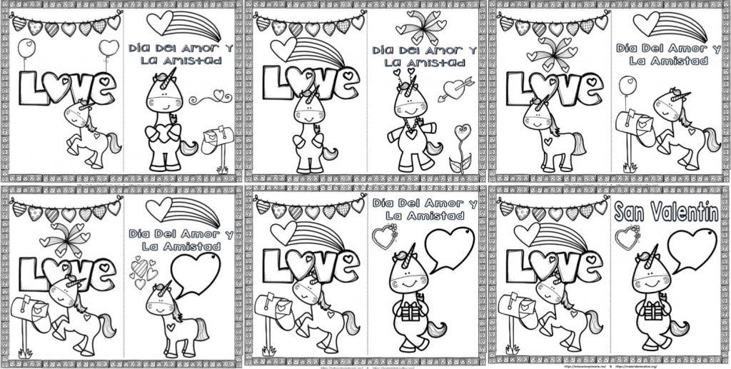 Hermosas Tarjetas Del Día Del Amor Y La Amistad O San Valentín De