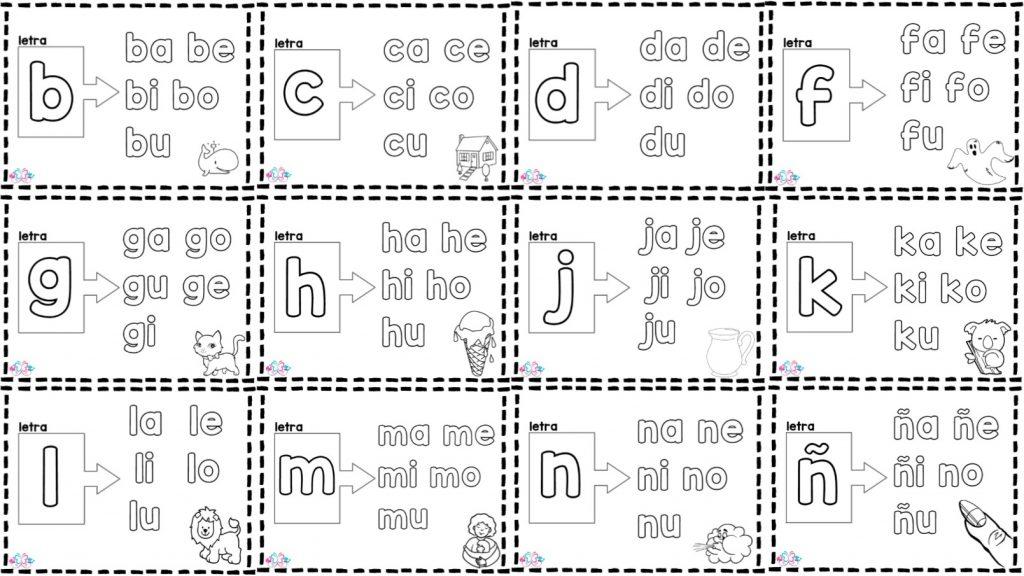 Maravilloso silabario para colorear para preescolar, primer y ...