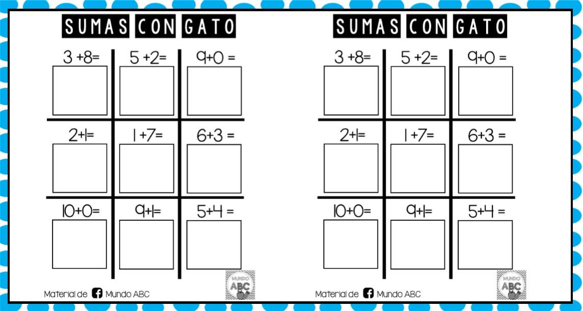 Divertido Juego Matematico Del Gato Con Sumas Para Primer A Tercer