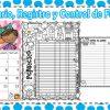 Registro de lectura diaria, calendario y control de libros del mes de febrero
