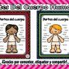 Fabulosos diseños para enseñar y aprender las partes del cuerpo para preescolar, primer y segundo grado de primaria