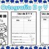 Estupendas actividades de ortografía de la letra B y V