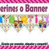 Bonito y fabuloso banner o banderines del mes de Abril
