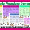 Estupendo calendario de actividades para vacaciones de semana santa para preescolar y todos los grados de primaria
