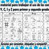 Excelente material para trabajar el uso de las consonantes B, V, G, J, LL, Y, C, S y Z para primer y segundo grado de primaria