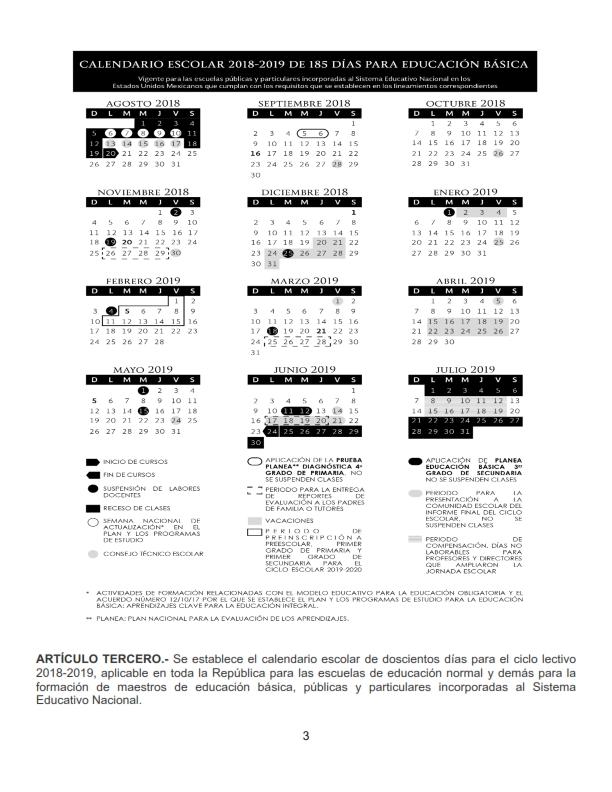 Calendario Dibujo Blanco Y Negro.Calendario Escolar 2018 2019 Oficiales De 195 185 Y 200