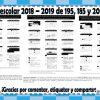Calendario escolar 2018 – 2019 oficiales de 195, 185 y 200 días  SEP