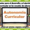 Lineamientos para el desarrollo y el ejercicio de la autonomía curricular en las escuelas de educación básica