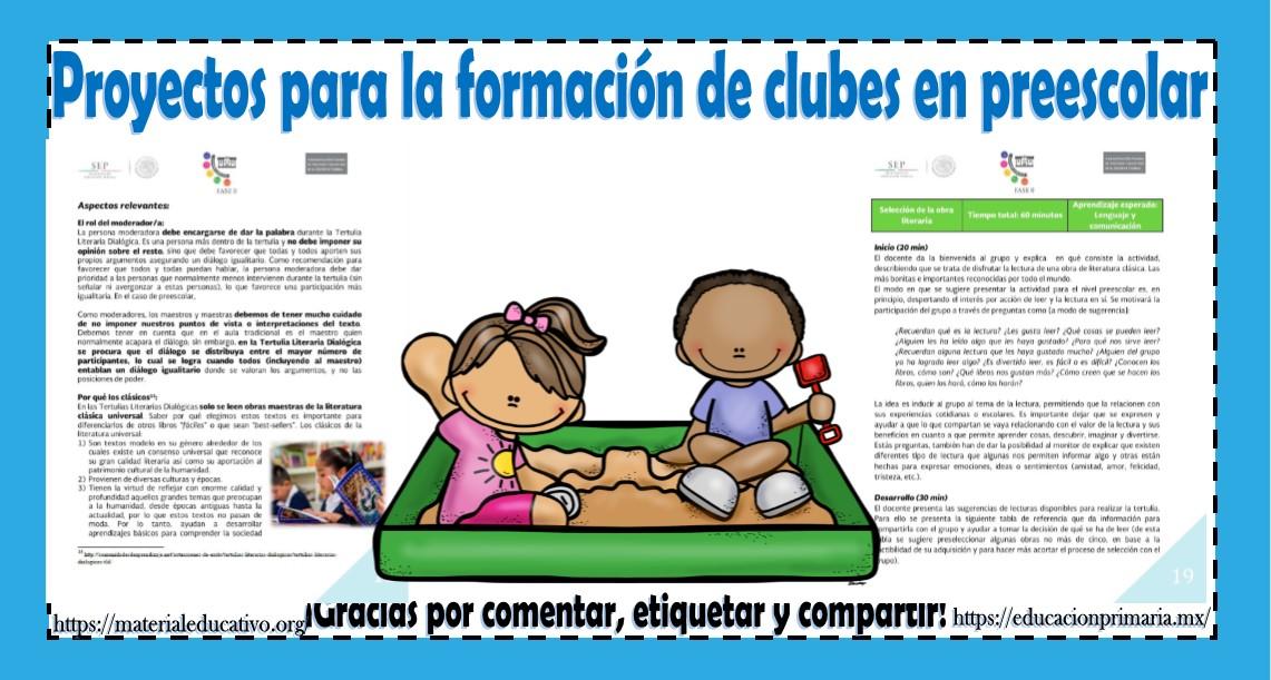 Proyectos Para La Formaci N De Clubes En Preescolar