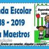 Excelente agenda escolar para maestros para el ciclo escolar 2018 – 2019 editable en PowerPoint