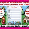 Fantástica agenda escolar de la caperucita roja para el ciclo escolar 2018 – 2019 editable en Word